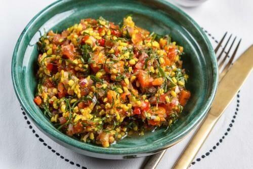Табуле с запеченными овощами