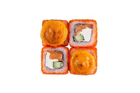 Ролл запеченный спайси лосось