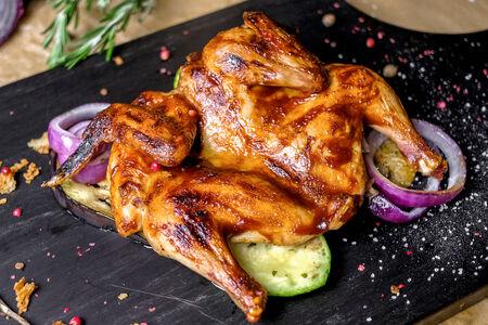 Цыпленок с овощами гриль