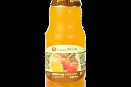 Лимонад негазированный Наша Ферма мандариновый с корицей