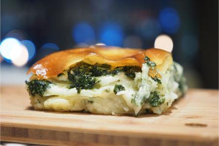 Ачма с копченым сыром и мятой