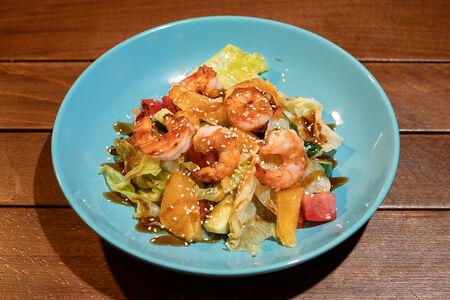 Салат Цитрусовый с креветками