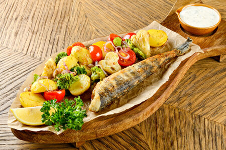 Ледяная рыба с картофелем