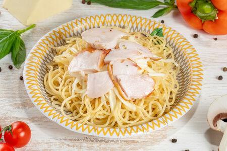 Спагетти Курочка и сыр