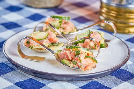 Севиче из лосося и тунца