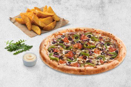 Ланч с пиццей Любители Овощей