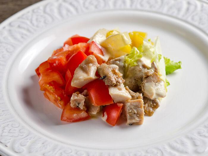 Салат с цыпленком и фруктами