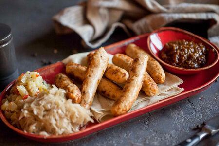 Колбаски из семги с креветками