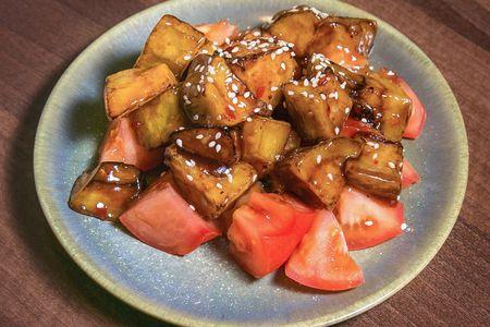 Жареные баклажаны в кисло-сладком соусе