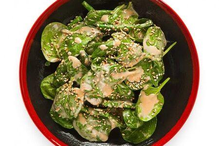 Салат со шпинатом и фасолью