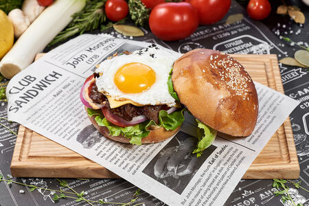 Бургер Паб с говяжьей котлетой