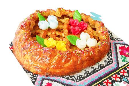 Пирог с яблоками и грушей