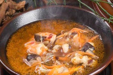 Шанхайский суп с морепродуктами