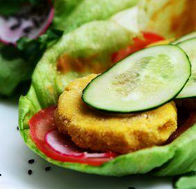 Healthy-бургер с чечевичной котлетой