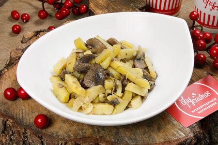 Картофель жареный с лесными грибами