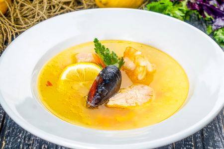 Уха по-царски из морепродуктов