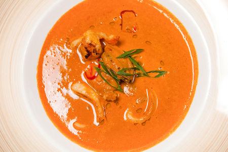 Густой суп с морепродуктами