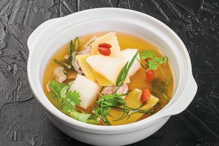 Суп из баранины на пару