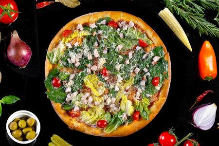 Пицца Цезарь с куриным филе