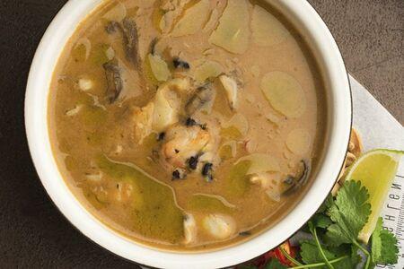 Азия суп с креветками
