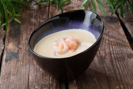 Суп кукурузный с креветками