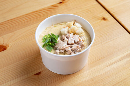 Суп овощной с курицей