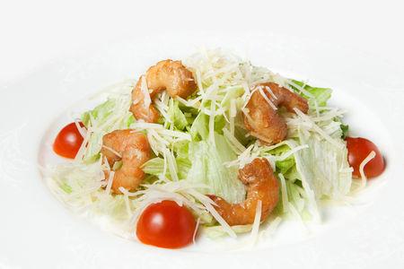 Салат Фитнес Цезарь с креветками