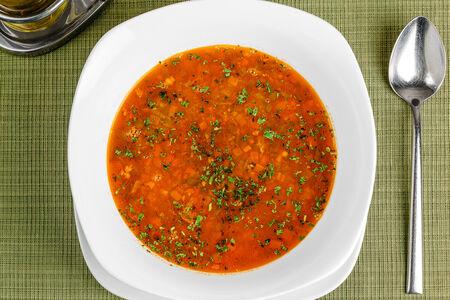Суп из индейки и красной фасоли