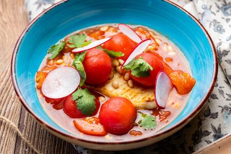 Салат Томаты с жареным сыром