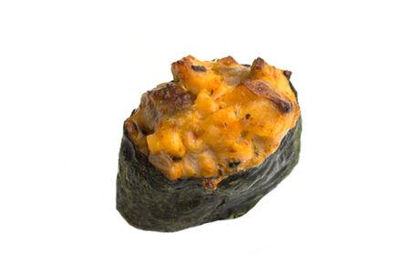 Суши острые запечённые морской гребешок