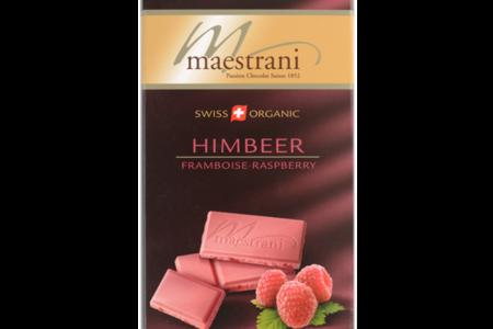 Шоколад белый с малиной, Maestrani
