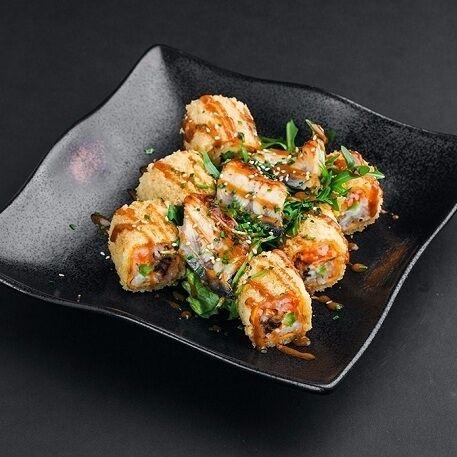 Ролл-салат Росу драгон с сашими из угря Блэк