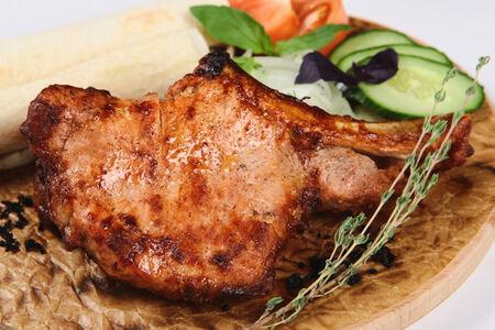 Шашлык из корейки свинины на косточке