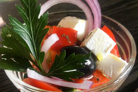 Салат из овощей с фетой
