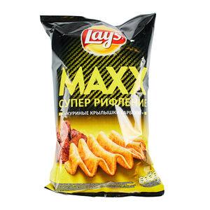 Lay's Maxx куриные крылышки барбекю