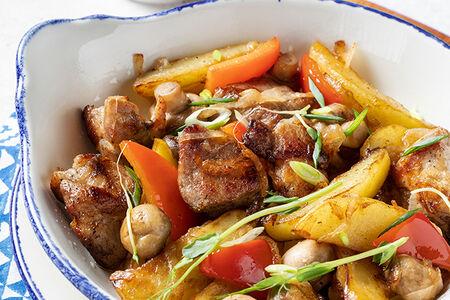Свинина по-итальянски с картофелем