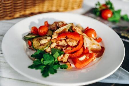 Садж с курицей и овощами