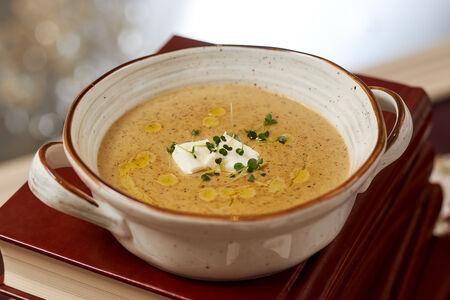 Крем-суп из белой спаржи и грибов