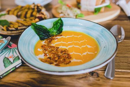 Суп Тыквенный с цитрусом и миндалем
