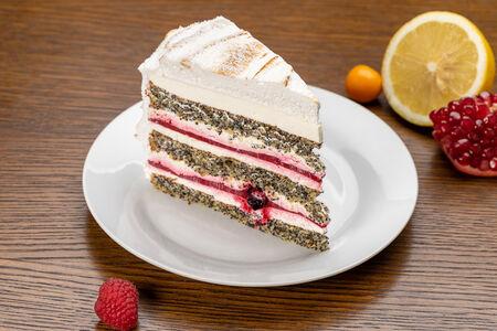 Торт Маковый с ягодами