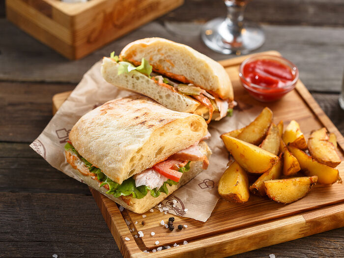 Сэндвич в чиабатте