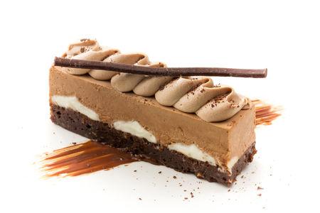 Десерт шоколадный мусс с брауни