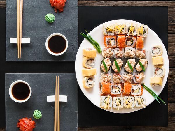 Wasabi sushi and rolls