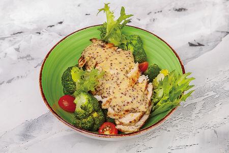 Имбирная курица с брокколи