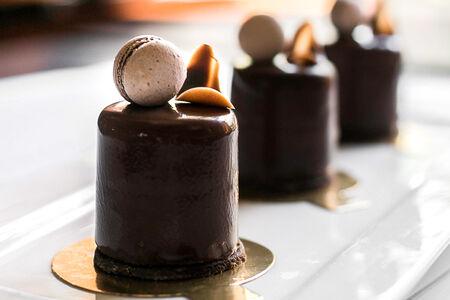 Суфле Пломбир шоколадный с вишней
