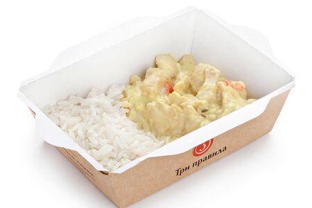Курица карри с рисом и кумином