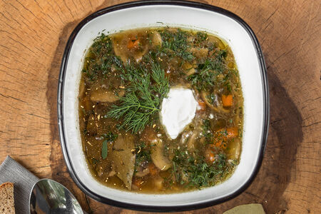 Осенний грибной суп