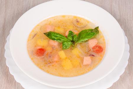 Суп из семги и кус-куса