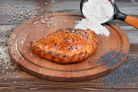 Пирог курица с грибами
