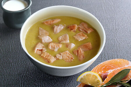 Суп Чаудер с лососем